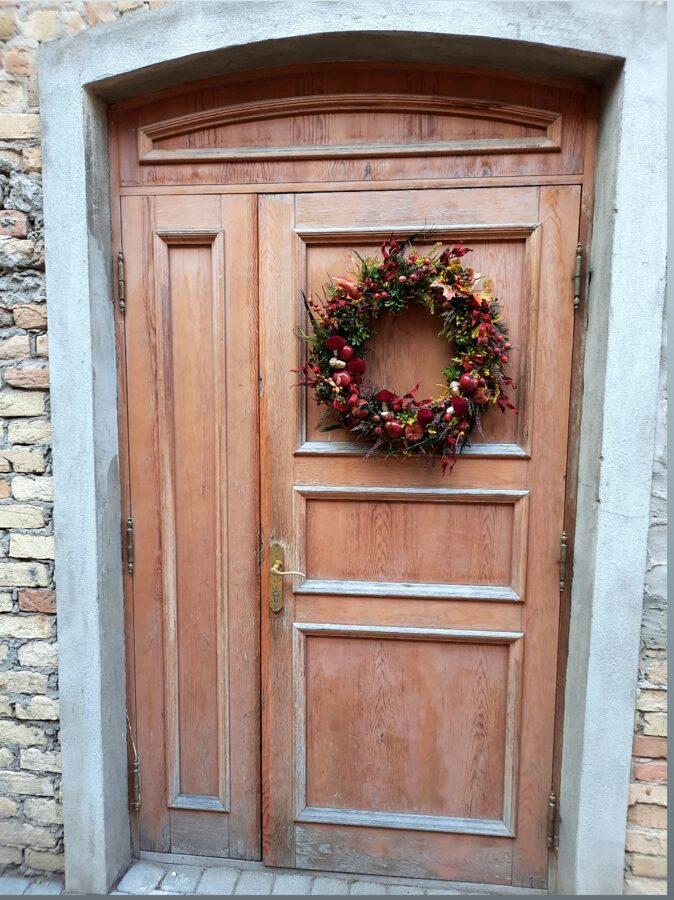 Rudens durvju vainags